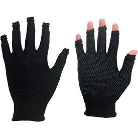 ミドリ安全 MIDORI ANZEN ミドリ安全 指先スライド手袋 スライドタッチ ブラック L