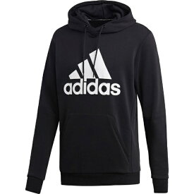 アディダス adidas メンズ アスレティクス トップス MUSTHAVES BADGE OF SPORTS プルオーバースウェットパーカー 裏毛(Oサイズ/ブラック×ホワイト)FSD53 DQ1461