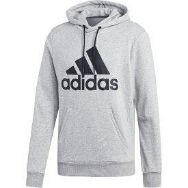 アディダス adidas メンズ アスレティクス トップス MUSTHAVES BADGE OF SPORTS プルオーバースウェットパーカー 裏毛(Lサイズ/ミディアムグレーヘザー×ブラック)FSD53 DT9947