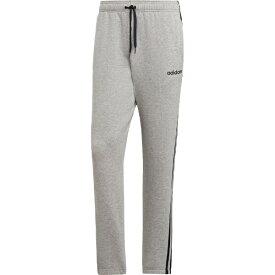 アディダス adidas メンズ ライフスタイル パンツ 3ストライプス スウェットテーパードパンツ 裏毛(Lサイズ/ミディアムグレーヘザー×ブラック)FSG26 DU0472