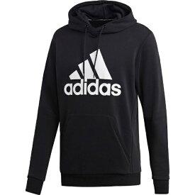 アディダス adidas メンズ アスレティクス トップス MUSTHAVES BADGE OF SPORTS プルオーバースウェットパーカー 裏毛(Mサイズ/ブラック×ホワイト)FSD53 DQ1461