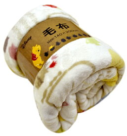 MORI PILO (モリピロ) Disney 洗える 毛布【ノルディックプー】 140×200cm シングルサイズ