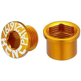 KCNC ケーシーエヌシー チェーンリング ボルト M8.5×0.75×6ボルト/M8.5×0.75×7ナット ダブル用 5PCS ゴールド 263109