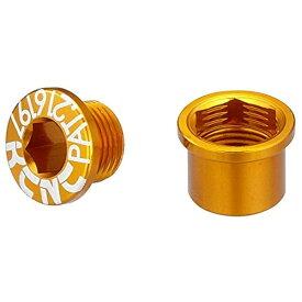 KCNC ケーシーエヌシー チェーンリング ボルト M8.5×0.75×4.5ボルト/M8.5×0.75×4.5ナット シングル用 5PCS ゴールド 263119