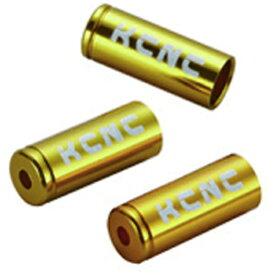 KCNC ケーシーエヌシー ケーブルパーツ ハウジングエンドキャップ 4mm 10PCS ゴールド 220609