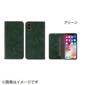 HAMEE ハミィ iPhone X用 CERTA 手帳型 ダイアリーケース グリーン IP8CERTA手帳型 ダイアリーGR