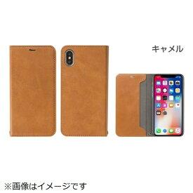 HAMEE ハミィ iPhone X用 CERTA 手帳型 ダイアリーケース キャメル IP8CERTA手帳型 ダイアリーCA