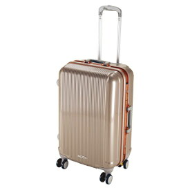 キャプテンスタッグ CAPTAIN STAG グレル トラベルスーツケース:TSAロック付ハードフレームタイプ(M/シャンパンベージュ) UV-2