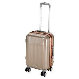 キャプテンスタッグ CAPTAIN STAG グレル トラベルスーツケース:TSAロック付ハードフレームタイプ(S/シャンパンベージュ) UV-3