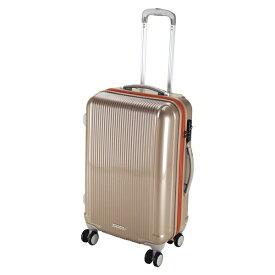 キャプテンスタッグ CAPTAIN STAG グレル トラベルスーツケース:TSAロック付ダブルファスナータイプ(M/シャンパンベージュ) UV-23