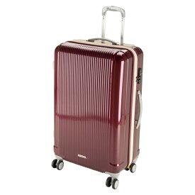 キャプテンスタッグ CAPTAIN STAG グレル トラベルスーツケース:TSAロック付ダブルファスナータイプ(L/ワインレッド) UV-25
