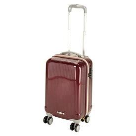 キャプテンスタッグ CAPTAIN STAG グレル トラベルスーツケース:TSAロック付ダブルファスナータイプ(S/ワインレッド) UV-27