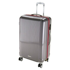 キャプテンスタッグ CAPTAIN STAG グレル トラベルスーツケース:TSAロック付ダブルファスナータイプ(L/スチールグレー) UV-28