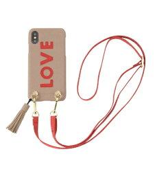 IPHORIA アイフォリア Strap Beige Love for iPhone X/XS ストラップベージュラヴ 16173