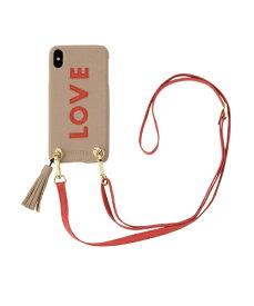 IPHORIA アイフォリア Strap Beige Love for iPhone XS Max ストラップベージュラヴ 16175