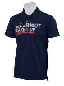 ルコック le coq メンズ ゴルフ ポロシャツ メッセージプリント(Mサイズ/ネイビー) QGMNJA17