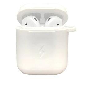 ROOX ルークス ワイヤレス充電シリコンカバー AirPodsケース ホワイト C-Tools