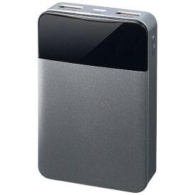 グリーンハウス GREEN HOUSE モバイル充電器 10000mAh シルバー GH-BTF100-SV シルバー [10000mAh /2ポート /充電タイプ]