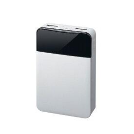 グリーンハウス GREEN HOUSE モバイル充電器 10000mAh ホワイト GH-BTF100-WH ホワイト [10000mAh /2ポート /充電タイプ]