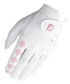 フットジョイ FootJoy 【レディース 左手用】ゴルフグローブ レディーEコンフォート (21cm/ホワイト×ピンク)FGLE19