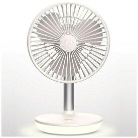 IRIVER LFANC1-190009 ワイヤレスミニ扇風機 STORM MONSTER T(4000mAh) MILKY WHITE [DCモーター搭載]