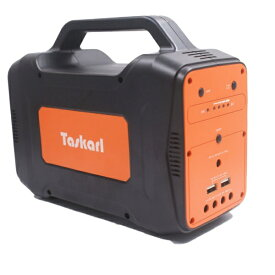 新東京物産 The Tokyo Trading TPD-J130 大容量ポータブル電源 TPD-J130 オレンジ/ブラック[ポータブル電源 大容量 USB]