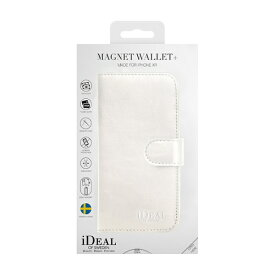 IDEAL OF SWEDEN アイディールオブスウェーデン iPhone XR用ウォレットケース ホワイト IDMWP-I1861-10