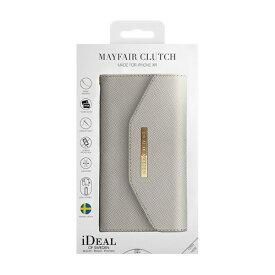 IDEAL OF SWEDEN アイディールオブスウェーデン iPhone XR用ウォレットケース クラッチライトグレイ IDMC-I1861-62