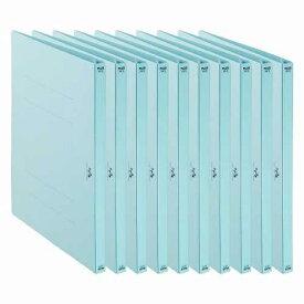 プラス PLUS 利用者カルテ フラットファイル 10冊パック ブルー FL-805FF