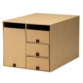 プラス PLUS リビングポスト2小物整理箱 Y4L クラフト LP-201Y4-L