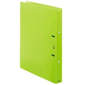 プラス PLUS 利用者カルテ リングファイル A4-S 背33 グリーン FL-808RF