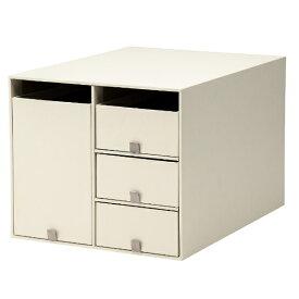 プラス PLUS リビングポスト2小物整理箱 Y4L クリームホワイト LP-201Y4-L