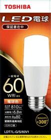 東芝 TOSHIBA LED電球(T形)60W形相当 電球色 口金E26 LDT7L-G/S/60V1 [E26 /電球色 /1個 /60W相当 /T形]