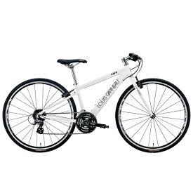 ルイガノ 700×28Cクロスバイク LGS-L9(LG WHITE/フレームサイズ:370mm(適正身長:150〜165cm)/24段変速)【組立商品につき返品不可】 【代金引換配送不可】