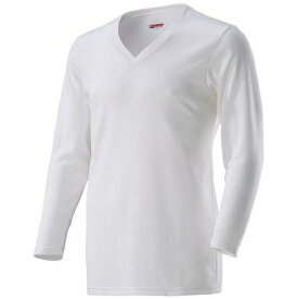 ミズノ mizuno メンズ アンダーウエア ブレスサーモアンダーVネック長袖シャツ(Mサイズ/オフホワイト)C2JA8610