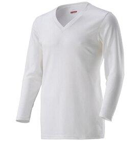 ミズノ mizuno メンズ アンダーウエア ブレスサーモアンダーVネック長袖シャツ(LLサイズ/オフホワイト)C2JA8610