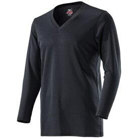 ミズノ mizuno メンズ アンダーウエア ブレスサーモアンダーVネック長袖シャツ(LLサイズ/ブラック)C2JA8610