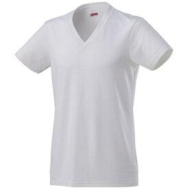 ミズノ mizuno メンズ アンダーウエア ブレスサーモアンダーVネック半袖シャツ(Lサイズ/オフホワイト)C2JA8611
