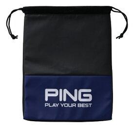 ピン PING シューズバッグ(W29×H39×D2cm/ブルー)GB-U195