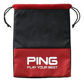 ピン PING シューズバッグ(W29×H39×D2cm/レッド)GB-U195