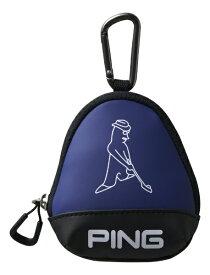 ピン PING ボールケース(W11×H13×D5cm 3個収納可能/ブルー)GB-U196