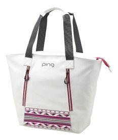 ピン PING トートバッグ(W58×H36×D18cm/ホワイト/ピンク)GB-L191