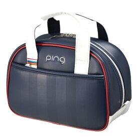 ピン PING ラウンドポーチ(W26×H18×D12cm/ネイビー)GB-L194