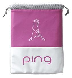 ピン PING シューズバッグ(W27×H37×D2cm/ピンク)GB-L195