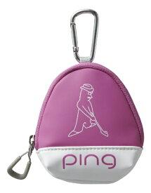 ピン PING ボールケース(W11×H13×D5cm 3個収納可能/ピンク)GB-L196