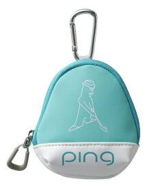 ピン PING ボールケース(W11×H13×D5cm 3個収納可能/ミント)GB-L196