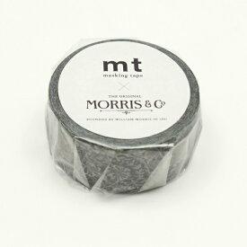 カモ井加工紙 KAMOI MTWILL18 mt ウィリアム・モリス Pure Honeysuckle & Tullip Black ink MTWILL18