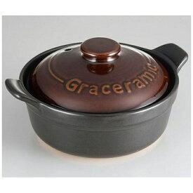 カクセー Kakusee Graceramic陶製洋風土鍋17cm GC-01[GC01]
