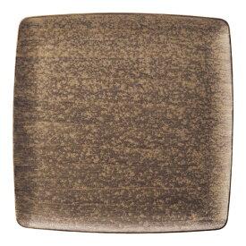 ミヤザキ食器 MIYAZAKI 崇雪 正角皿 ゴールド 21.5cm <RSU1701>[RSU1701]