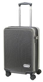 アウトドアプロダクツ OUTDOOR PRODUCTS スーツケース 拡張式Wホイールファスナーキャリー 40L(45L) ブラックカーボン OD-0808-50-BKC [TSAロック搭載]